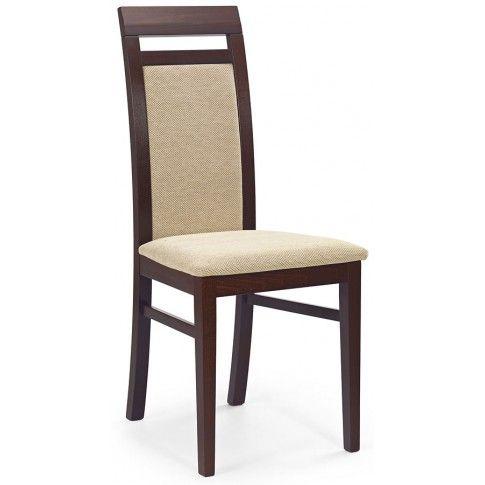 drewniane krzesło w kolorze ciemny orzech z oferty sklepu edinos.pl